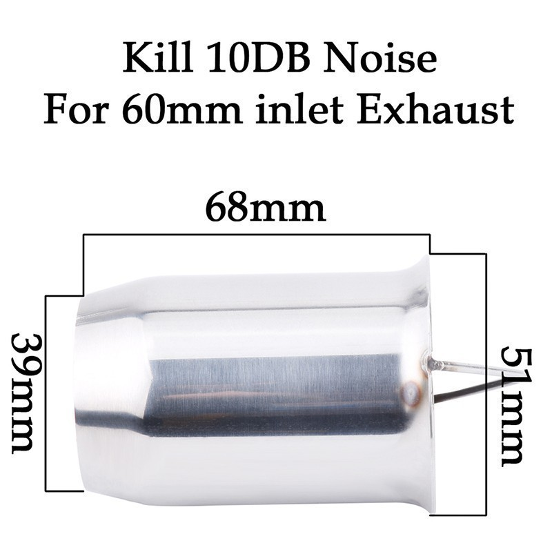 ESPEEDER Motorcycle DB Killer Silencer Noise Sound Eliminator Muffler Escapes Exhaust Muffler Escapes For 60mm 51mm Pipe Tip in Exhaust Exhaust Systems from Automobiles Motorcycles