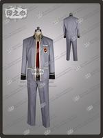Twin Star Exorcists Enmadou rokuro Cosplay Costume Haloween Costume School Dress Shirt+Pants+Coat
