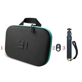Yi bluetooth pilot selfie stick monopod worek do przechowywania obudowa do xiaomi yi Xiaoyi 4k Lite Mijia akcesoria do kamer sportowych tanie i dobre opinie PULUZ SA-9712 Akcesoria Zestaw Zestaw