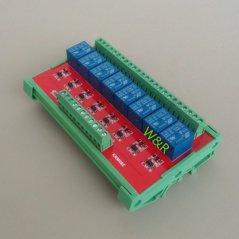 8 Way Intermediate Relay, /PLC Expansion Board / Belt Guide Rail / High / Low Level / Working Voltage DC5V/12V/24V global intermediate business eworkbook