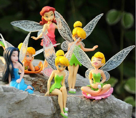 High Quality PVC (6pcs/set) Tinkerbell Fairy Adorable Figures Toy Toys Free Shipping Retail