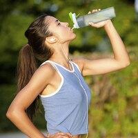 Thiết Kế mới nhất 600 ml Nhựa Thể Thao Phun Nước Chai Straw Đối Ngoài Trời Đạp Xe Đạp Thể Thao Phòng Tập Thể Dục Uống Chai