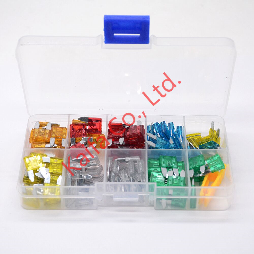 New mini 120pcs auto automotive car boat truck blade fuse box assortment 5a 10a 15a 20a