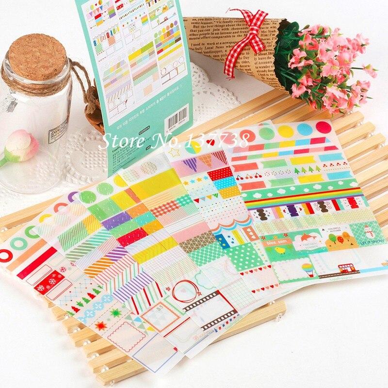 Hot Sale 6 lembar / set Baru Kawaii Rainbow Mercado Sticker - Mainan klasik - Foto 3