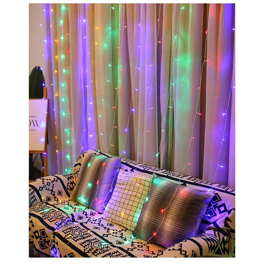 3x3/2x2/6x3/3x2 Meter LED Curtain Led Lights Decoration Christmas Fairy Lights Romantic String Christmas Wedding Holiday Lights