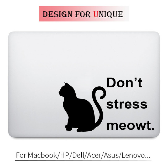 Funny Black Cat Quote Decal Laptop Sticker For Apple Macbook Pro Air