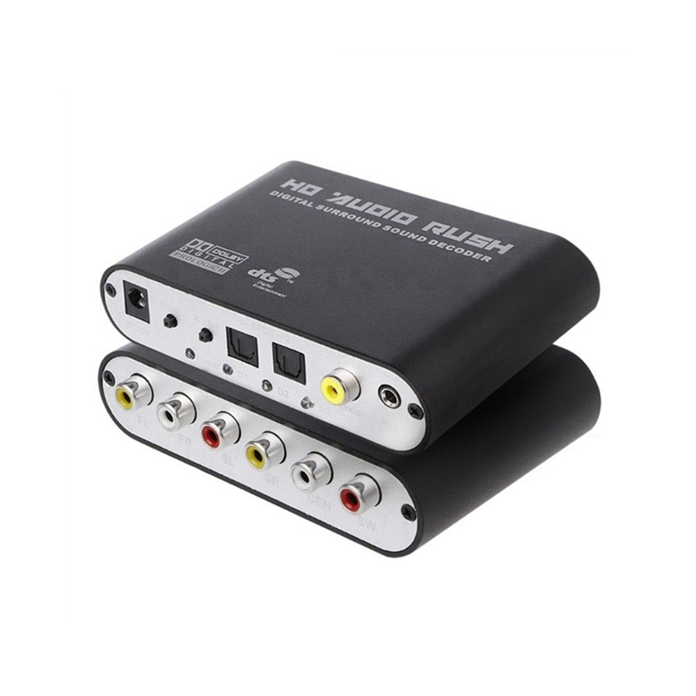Tragbares Audio & Video Gehorsam Dts/ac3 5,1 Kanal Audio Decoder Optische Spdif 3,5 Aux Koaxial Digital Zu Analog 6rca Hd Dolby Surround Sound Verstärker Adapter