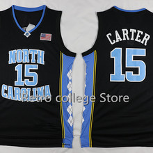 f4d9ac27f 2016 #15 Vince Carter north carolina tar heels Retro throwback Basketball  Jersey Embroidery Stitched XXS