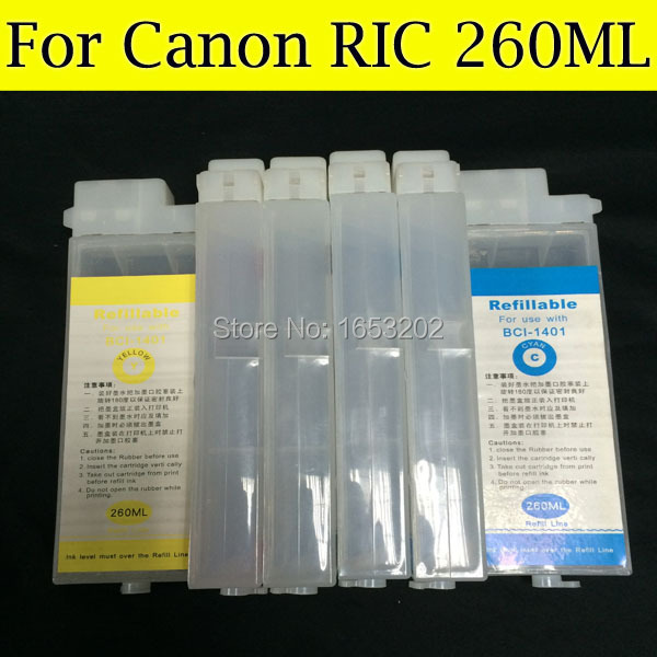 6 Pièces/lot PFI-102 Recharge Cartouche D'encre Pour Canon ipf610 ipf600 ipf700 ipf710 ipf605 ipf720 ipf750 Imprimante Sans Puce