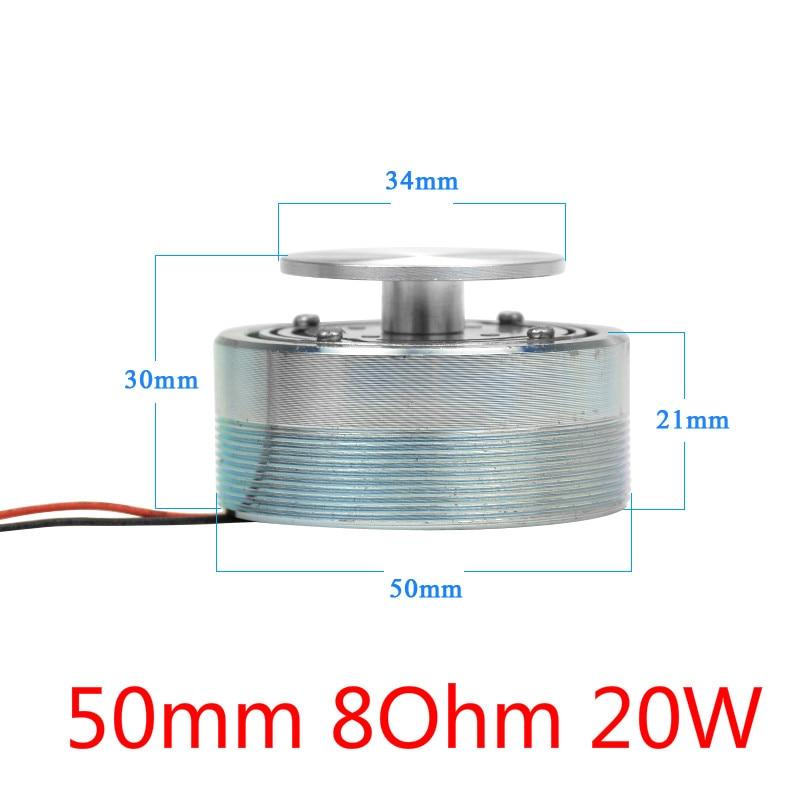 AIYIMA аудио портативный колонки 25 Вт/20 Вт 4 Ом/8 Ом 44/50 мм полный спектр вибрирующий динамик НЧ-динамик, Bluetooth AUX-резонансная томография НЧ-динамик - Цвет: 50mm 8Ohm 20W