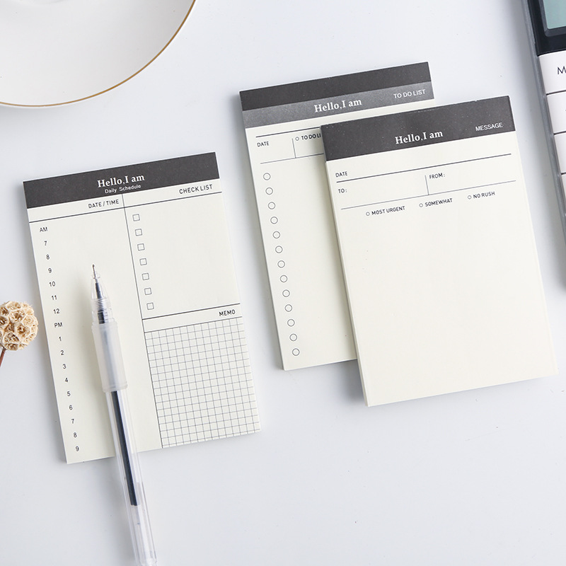 Creative Daily Schedule Memo Pad To Do List Time Sticky Note Schedule Planner Stickers Office School Supplies Korean Stationery