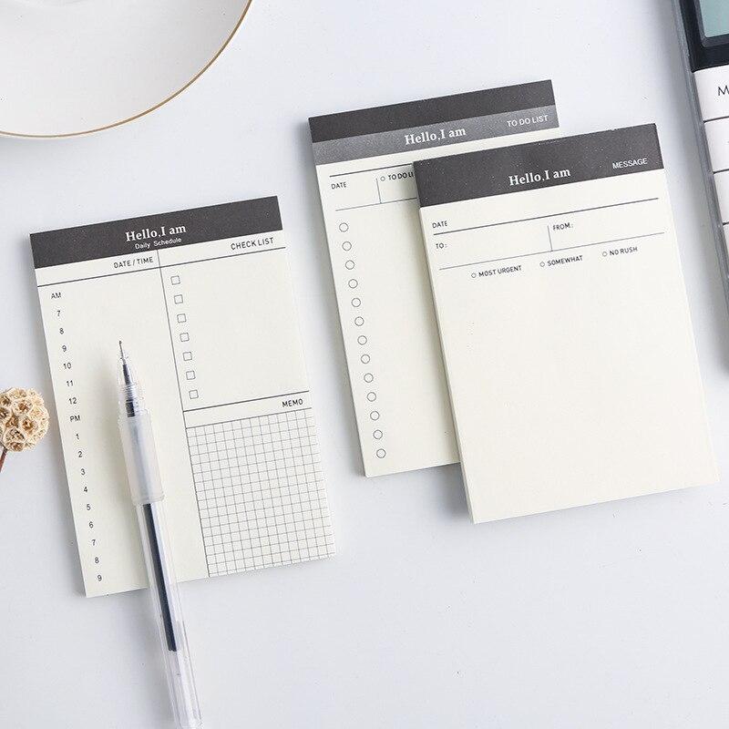 Criativo Diário Cronograma Tempo nota Pegajosa Memo pad Para Fazer A Lista planejador Cronograma adesivos Material Escolar Escritório Papelaria Coreano