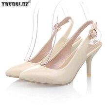 YOUGOLUN Moda Mujeres Punta estrecha thin tacones altos Bombas de mujer sandalias de verano zapatos de las señoras atractivas mujeres slingback zapatos femeninos