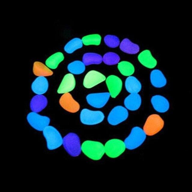 Solar Glow Stone Simulation Lightweight Luminous Pebble Stone For Home Fish  Tank Decor Garden Corridor Decorations