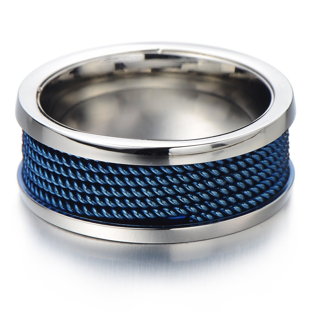 iron by custommade stainless steel rousis ring george bands com jewelry blue s search rings engineer