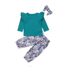 Newborn Infant Baby Girls Fall T-shirt Long Sleeve Tops Floral Leggings Pants Headband 3PCS Outfits Set 2019 мойка высокого давления patriot gt970 imperial page 2 page 2 page 4 page 9 page 8 page 3