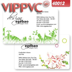 a40012 One faced Pvc white plastic business card template for  name card 0.38mm