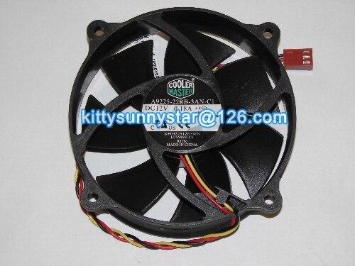 New Original Cooler Master A9225-22RB-3AN-C1 DF0922512RFMN E255988-CF 12V 0.18A 3Wire 775 cpu Cooling Fan