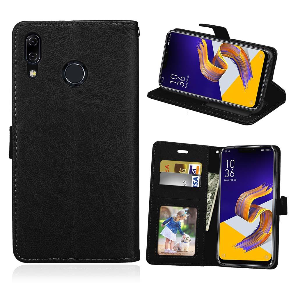 Wallet Case For Asus Zenfone 5z ZS620KL/Zenfone 5 ZE620KL Cover Leather Magnetic For Asus Zenfone Max Plus(M1)ZB570TL/Pegasus 4s