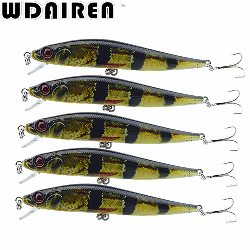 1Pcs 10cm 10g Crank wobblers Minnow Fishing Lure Artificial Laser Hard  hooks pesca Fishing Bait tackle Crankbait NE-412 hengjia 1pc 11 5cm 11 2g pencil fishing lure hard isca artificial minnow crank bait fake bait fishing hook carp fishing wobblers