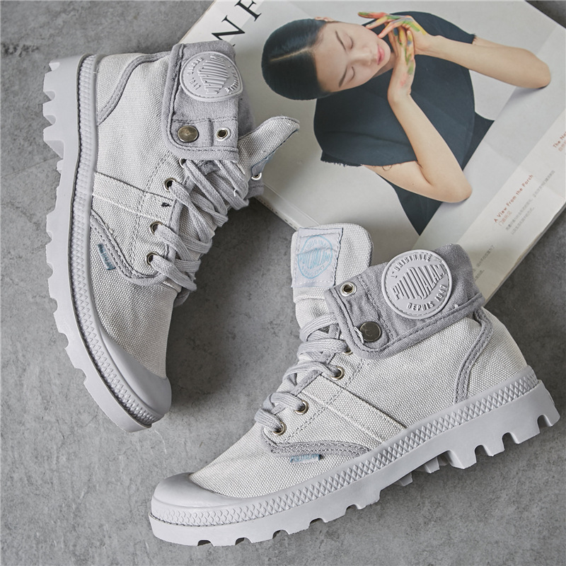 fashion Autumn Winter High help canvas Leisure shoes woman Sell well Europe America Breathable slip light Outdoor flat sneakers