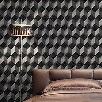 Modern Hair Salon Cube Wallpaper 3D For Living Room Tv Walls Black Papel De Parede Clothing Store Fashion Purple Wall Paper Roll