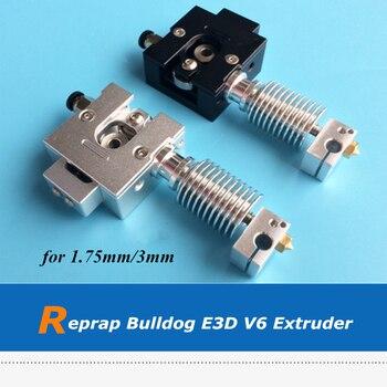 3D Printer Part Reprap Full Metal Bulldog + E3D V6 J-head Extruder For 1.75mm 3mm Filament
