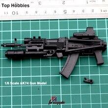1/6 Scale 4D Weapon Model AK74 Assembling Gun Model Toy F 12'' Soldier Action Figure все цены