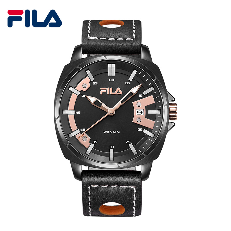 2018 Fila Men's Fashion Sport Watches Men Quartz Analog Date Clock Man Leather Military Waterproof Watch Relogio Masculino 797 weide popular brand new fashion digital led watch men waterproof sport watches man white dial stainless steel relogio masculino