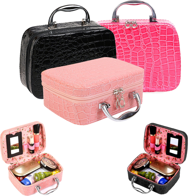 6c8ae56b187c US $9.48 18% OFF|Fashion Travel Cosmetic Toiletry Bag Makeup Train Storage  Bag Case Jewelry Box Cosmetic Organizer -in Storage Bags from Home & Garden  ...