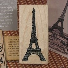 Free ship!10pc!Cartoon Eiffel Tower stamp /DIY retro stamps / diary seal