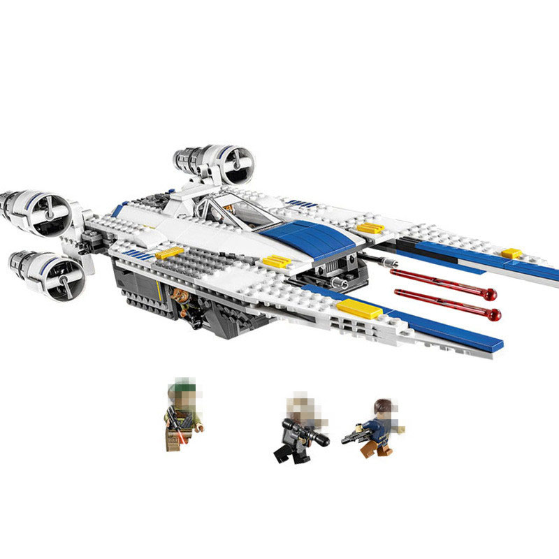 New 679pcs Lepin 05054 Genuine Star Series The U- Fighter Wing Set Building Blocks Bricks Toys 75155 War wars конструктор lepin star plan истребитель повстанцев u wing 679 дет 05054