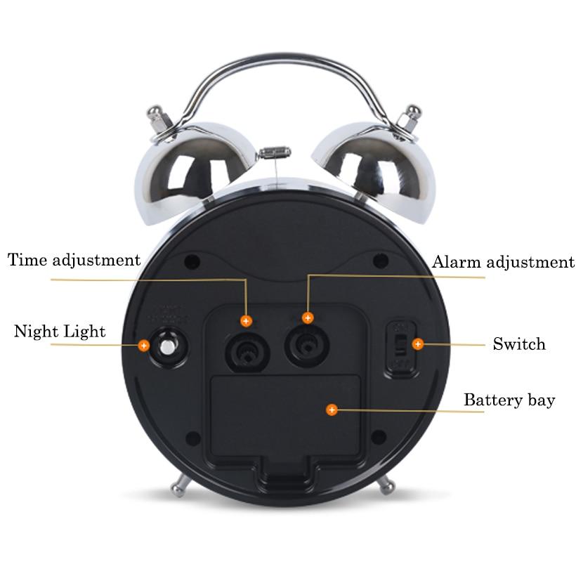 POWER Luminoso Mecánico Despertador Silencioso Cronómetro - Decoración del hogar - foto 2