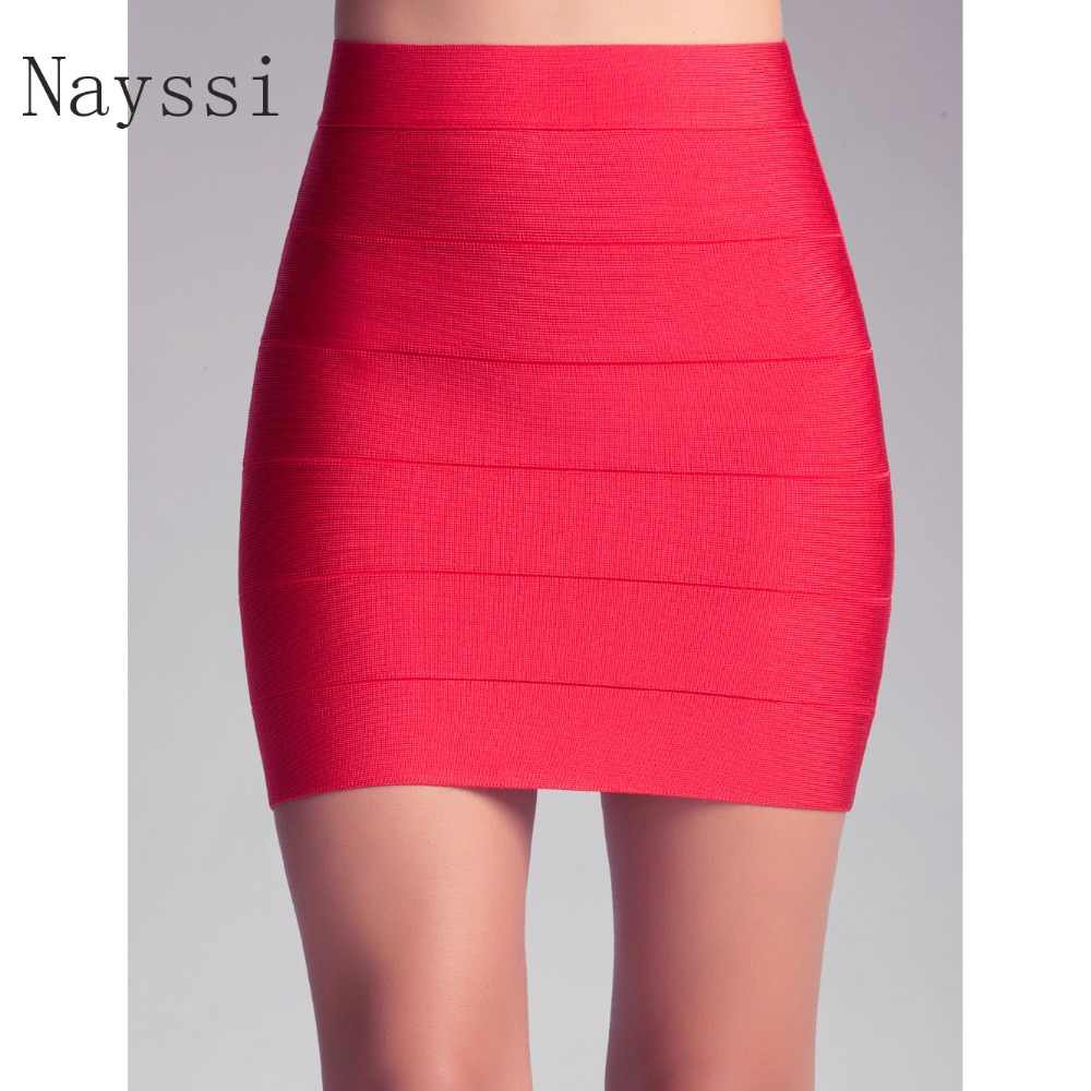 6d4c6f39d Nayssi 2019 Bandage Skirt Newest High Wait Sexy Women's Short Stripes Pencil  Wholesale Party Skirt