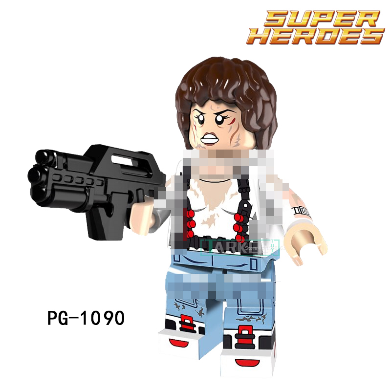 Building Blocks Ellen Ripley Super Heroes Star Wars Set Model Action Bricks Dolls Kids DIY Toys Hobbies PG1090 Figures Gift building blocks the walking dead figures rick negan carl daryl star wars super heroes set assemble bricks kids diy toys hobbies