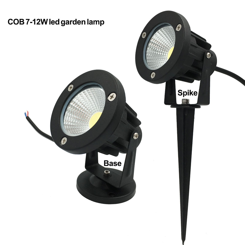 220V 110V Outdoor LED Garden Light COB Led Lawn Lamp 3W 5W 7W 9W Waterproof Spike Garden LED Light Outdoor Warm White RGB