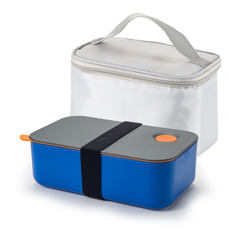 Portable plastic lunch box single layer rectangular bento box microwave heating resitant tableware