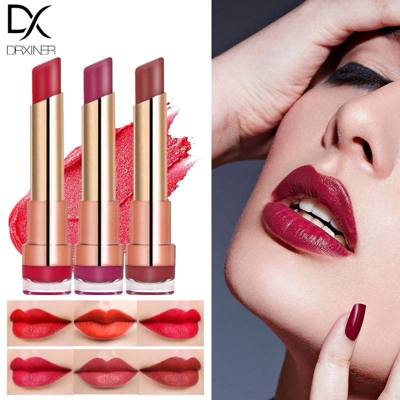 DRXINER Matte Lipstick New Rouge Matte Soft Creamy Moisturizing Lipstick Makeup Long Lasting Waterproof Velvet Smooth Beauty  2