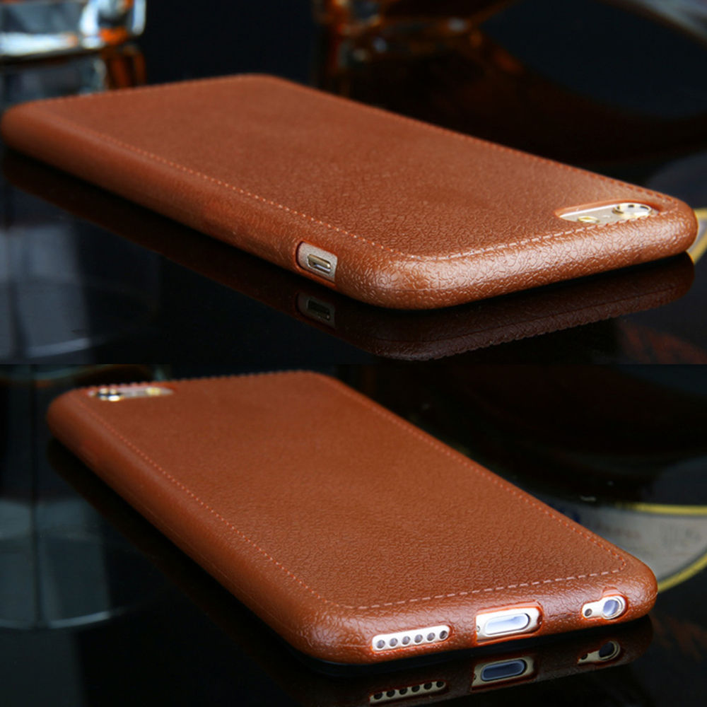 Luxury Ultrathin Leather Grain Soft TPU Case Cover For Apple iPhone 5 SE 6s Plus