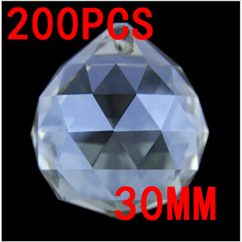 Hot 30mm Quartz Crystal Glass Faceted Ball Cognac Paperweight Natural Stones Minerals Feng Shui Crystals Balls Crystal Products