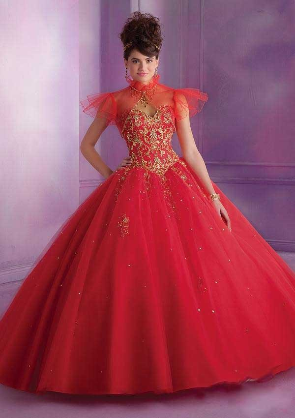 Aliexpress.com : Buy Hot Red Ball Gown Quinceanera Dresses With ...