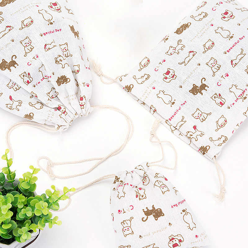 Moda saco de Mão Das Mulheres Sapata de lona de algodão Com Cordão de Viagem Seco Lingerie Bolsa de Maquiagem Bolsa De cosméticos Organizador Cueca