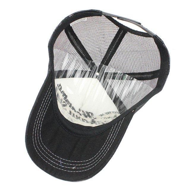Embroidered Panels Summer Baseball Cap Mesh Cap