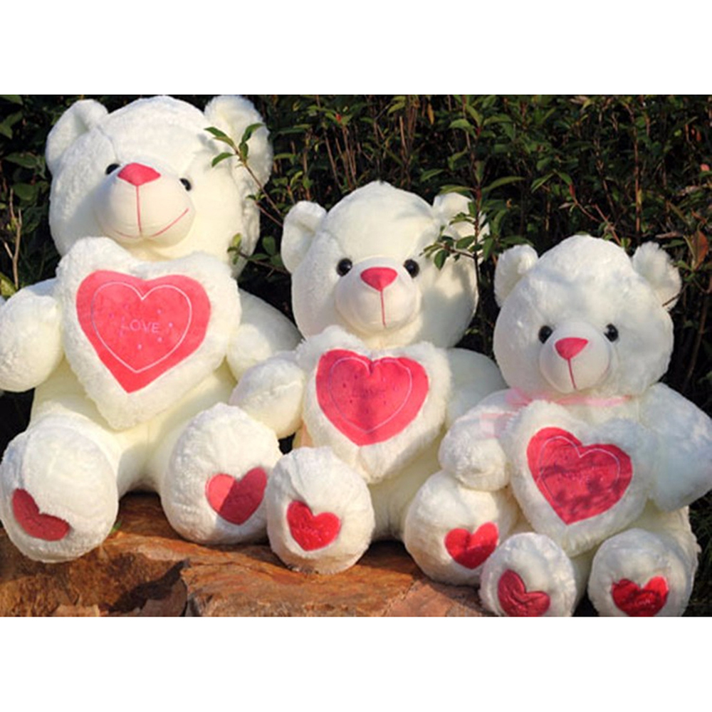 70cm Love Heart Bear Dolls Teddy Bear Soft Toys For Children Kawaii Cute Plush Kids Toy Doll  Baby  For Valentine' s Day Gift 6pcs plants vs zombies plush toys 30cm plush game toy for children birthday gift