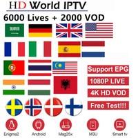 6000 Live Channels Europe IPTV Subscription Rocksat France UK German Arabic Dutch Sweden French Poland Portugal Smart TV IPTV