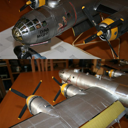 US B29 Superfortress Bomber Paper Craft 1 47 airplane Model in Model Building Kits from Toys Hobbies