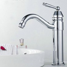 Swivel Spout Water Tap Polished Chrome Brass Single Handle Single Hole Kitchen Sink & Bathroom Faucet Basin Mixer Tap anf208 chrome polished kitchen sink mixer tap two spouts single handle one hole kitchen faucet