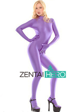 Free Shipping DHL Fashion Purple Color Lycra Spandex Leotard Sexy Zentai Catsuit MT196 Dropship