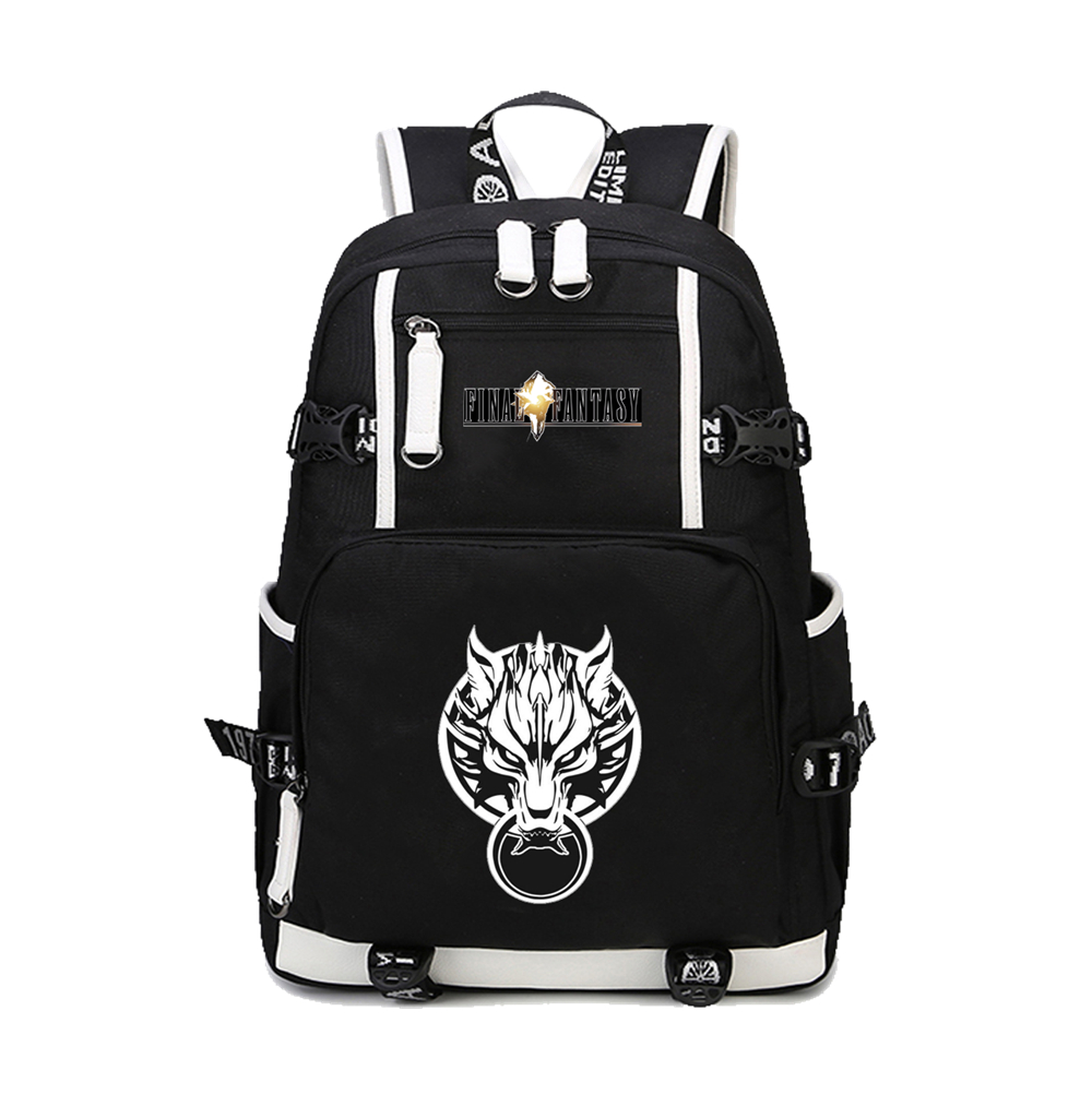 Game Final Fantasy Fluorescence Backpack Cloud Printing School Bags for Teenage Boys Laptop Notebook Backpack canvas Rucksacks