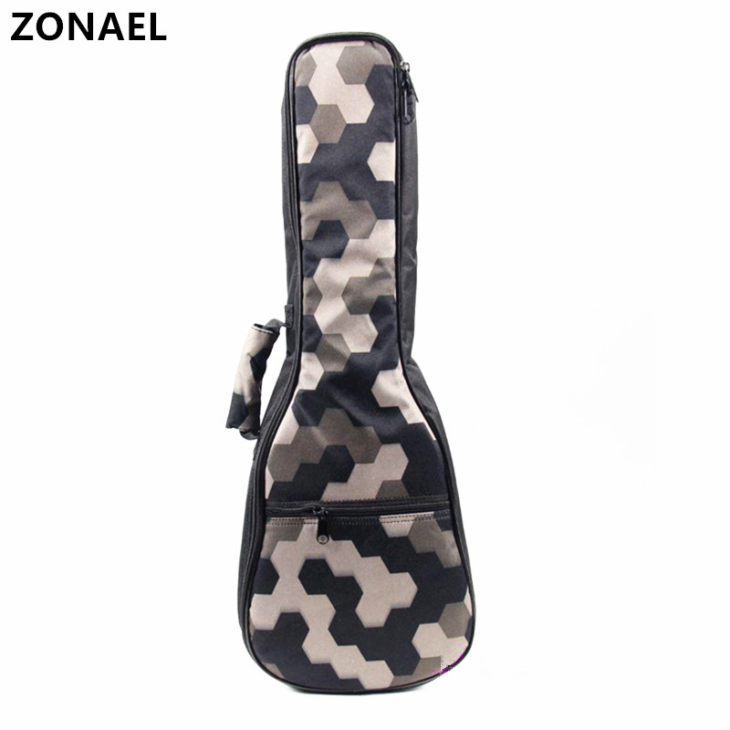 ZONAEL Hot 21 23 24 26 Ukelele Bag Backpack Waterproof Bag Canvas Guitar Bags Cases Guitar Parts With Double Shoulder Strap Bag